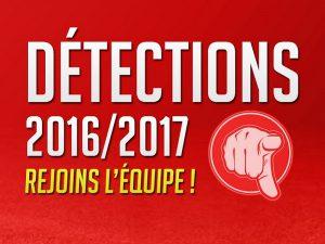 détections saison 2016-2017