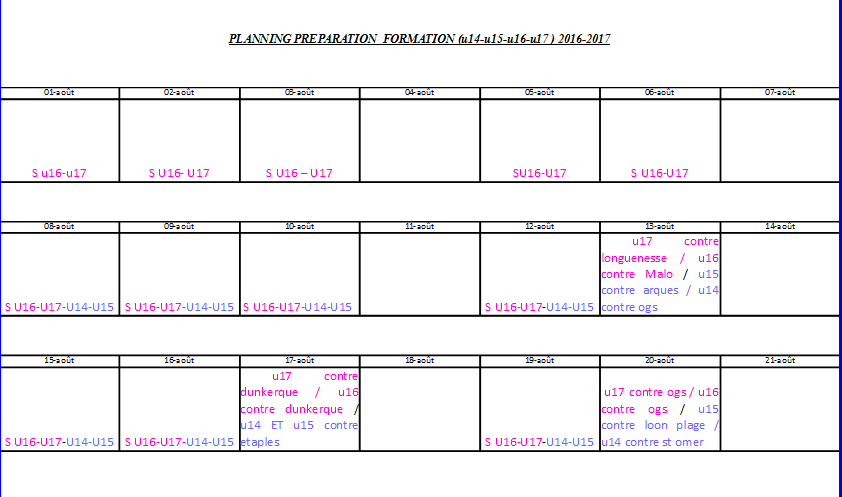 planning prepa formation 1